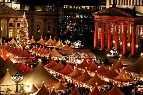 Marché de noel sur la place Gendarmenmarkt