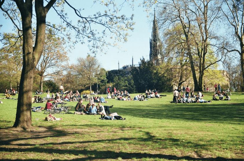 Viktoria Park à Kreuzberg, un jour d'été
