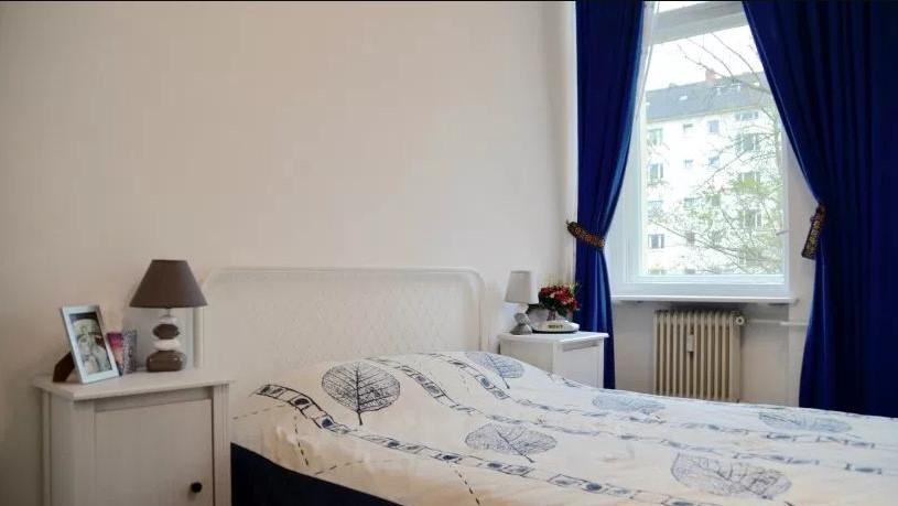 Chambre avec lit double et vue
