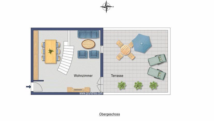 Plan au sol - deuxième niveau